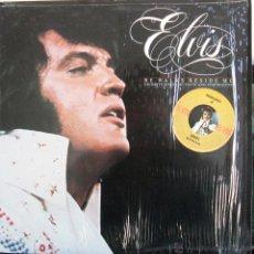 Discos de vinilo: ELVIS HE WALKS BESIDE ME FAVOURITE SONGS OF FAITH AND INSPIRATION / LP 33 RPM / USA. Lote 43057365