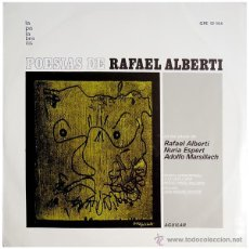 Discos de vinilo: RAFAEL ALBERTI+NURIA ESPERT+ADOLFO MARSILLACH - POESIAS - LP SPAIN 1969 - LA PALABRA/AGUILAR. Lote 43057655