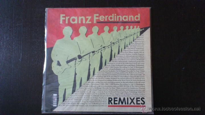 Discos de vinilo: FRANZ FERDINAND - REMIXES - JUSTICE - MAXI VINILO 12 - 2006 - DOMINO - Foto 3 - 43062551