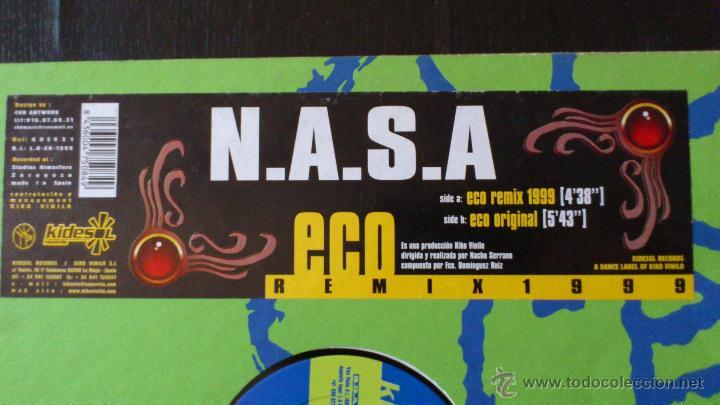 Discos de vinilo: N.A.S.A - ECO REMIX 1999 - VINILO - KIDESOL RECORDS - KIKO VINILO - 1999 - Foto 2 - 43063000