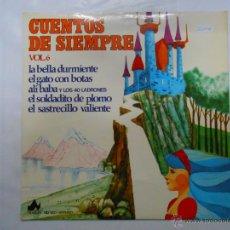 Disques de vinyle: CUENTOS DE SIEMPRE. LA BELLA DURMIENTE. EL GATO CON BOTAS. ALI BABA. EL SOLDADITO DE PLOMO. TDKDA5. Lote 43064066