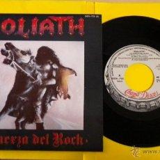 Discos de vinilo: GOLIATH (LA FUERZA DEL ROCK) ***SINGLE PROMOCIONAL*** (NUEVO A ESTRENAR). Lote 43068431