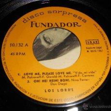 Dischi in vinile: LOS LORD'S LORDS LOVE ME PLEASE/OH! HE! HEIN! BON!/LA MUÑECA QUE HACE NO/HIERBA VERDE EP 1967 FUNDAD. Lote 43080552