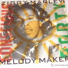 Discos de vinilo: ZIGGY MARLEY & THE MELODY MAKERS - CONSCIOUS PARTY - MADE IN SPAIN 1988 - INCLUYE ENCARTES - LP. Lote 43083117