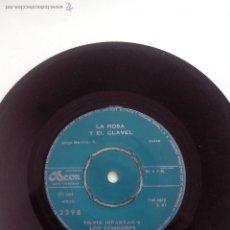 Discos de vinilo: SILVIA INFANTAS Y LOS CONDORES. LA ROSA Y EL CLAVEL LOS DICHOS CHILENOS. CHILE.1964(ODEON MSOD 3298). Lote 43083570