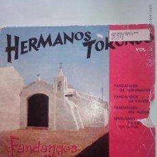 Discos de vinilo: HERMANOS TORONJO. FANDANGOS. SEVILLANAS. HISPAVOX (HH16-132)( 1960). Lote 43098937