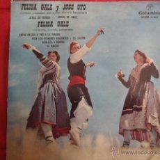 Discos de vinilo: FELISA GALE Y JOSE OTO JOTAS.. Lote 43104189
