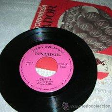 Discos de vinilo: LOS PAYOS - LA SUECA - EP FUNDADOR 1969. Lote 43105852
