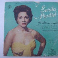 Discos de vinilo: EP. SARITA MONTIEL. B.S.O.EL ULTIMO CUPLÉ. NENA/TU NO ERES ESO... COLUMBIA. . Lote 43115354