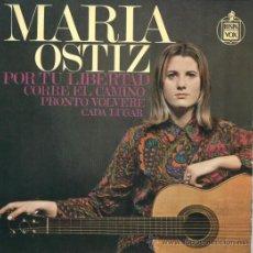 Discos de vinilo: MARIA OSTIZ EP HISPAVOX NUEVO 1968 FOLK . Lote 43134112
