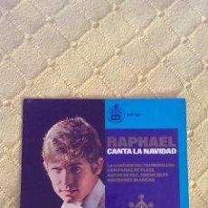 Discos de vinilo: RAPHAEL CANTA LA NAVIDAD SINGLE 1965, EL TAMBORILERO. Lote 43136847