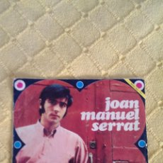 Discos de vinilo: JOAN MANUEL SERRAT, VINILO SINGLE 45 RPM 1968. Lote 43137194