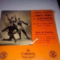 Discos de vinilo: ROSITA SEGOVIA. ANTONIO CUERPO DE BAILE, SUITE DE SONATAS(PADRE ANTONIO SOLER)COLUMBIA SCGE 80015. Lote 43142589
