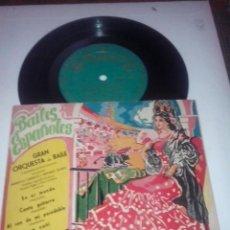 Discos de vinilo: BAILES ESPAÑOLES. GRAN ORQUESTA DE BAILE(INDALECIO CISNEROS Y ANTONIO VALERO) ALHAMBRA EMGE 70029. Lote 43142619