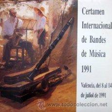 Discos de vinilo: CERTAMEN INTERNACIONAL DE BANDES DE MÚSICA - VALENCIA 1991 - DOBLE LP. Lote 43146112