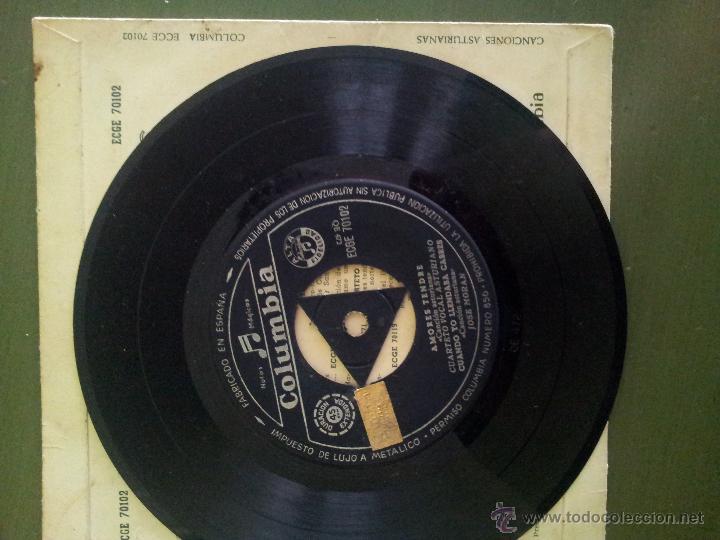 Discos de vinilo: EP CUARTETO VOCAL ASTURIANO Y JOSÉ MORÁN ASTURIAS - Foto 3 - 32441920