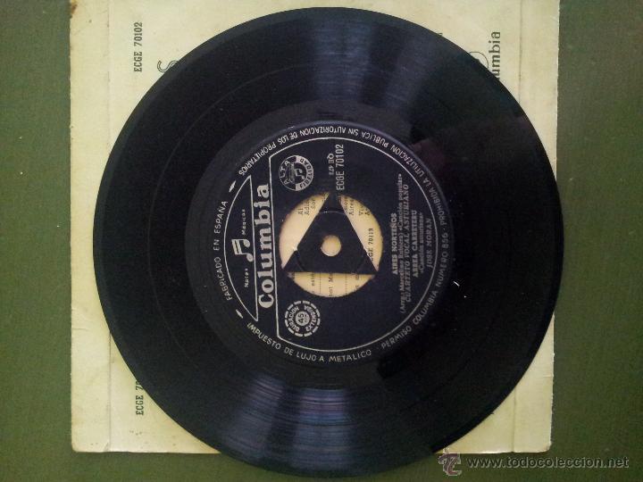 Discos de vinilo: EP CUARTETO VOCAL ASTURIANO Y JOSÉ MORÁN ASTURIAS - Foto 4 - 32441920
