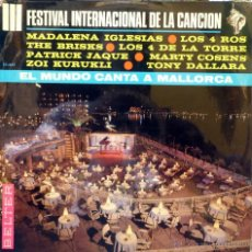Discos de vinilo: III FESTIVAL INTERNACIONAL DE CANCION. MUNDO CANTA MALLORCA. BELTER 1966 LP BRISKS MADALENA IGLESIAS. Lote 43148276