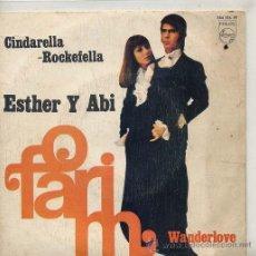 Discos de vinilo: ESTHER Y ABI OFARIM ( CINDARELLA ROCKEFELLA / WANDERLOVE (SINGLE 1968). Lote 43160007