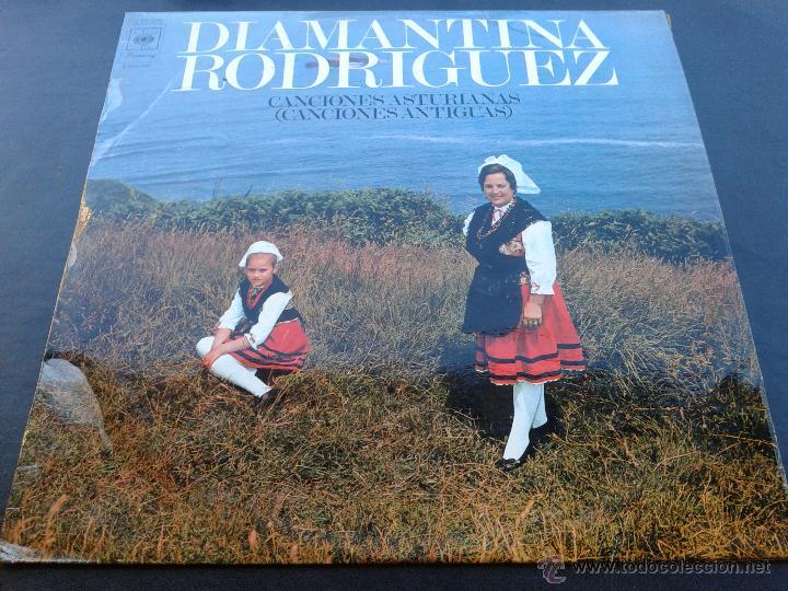 LP - DIAMANTINA RODRIGUEZ **CANCIONES ASTURIANAS, VOL II CANCIONES ANTIGUAS** 1973 CBS** (Música - Discos - LP Vinilo - Otros estilos)