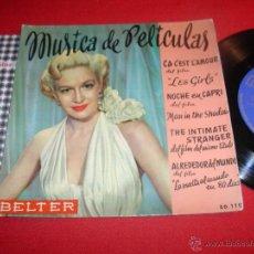 Discos de vinilo: MUSICA DE PELICULAS BELTER NOCHE EN CAPRI EP. Lote 43178783