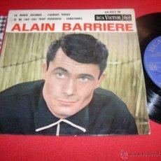 Discos de vinilo: ALAIN BARRIERE LA MARIE JOCONDE 1963 FRANCE EP. Lote 43186692
