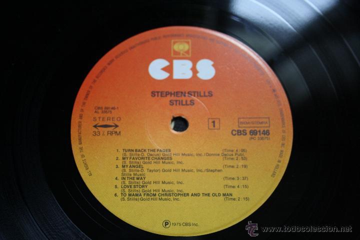 Discos de vinilo: STEPHEN STILLS, STILLS, CBS RECORDS,1975, 1º EDICION ORIGINAL, MADE IN HOLLAND, LP - Foto 4 - 43186758