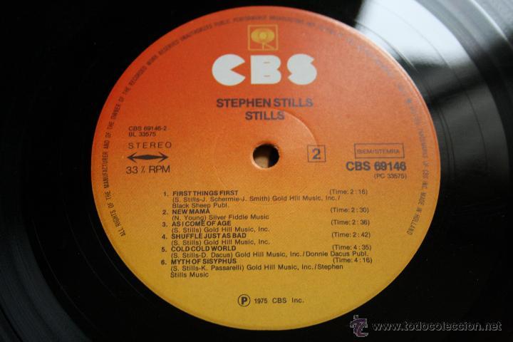 Discos de vinilo: STEPHEN STILLS, STILLS, CBS RECORDS,1975, 1º EDICION ORIGINAL, MADE IN HOLLAND, LP - Foto 5 - 43186758