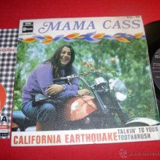 Discos de vinilo: MAMA CASS CALIFORNIA EARTHQUAKE SPAIN 1968 SINGLE. Lote 43190482