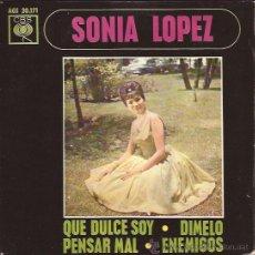 Discos de vinilo: EP-SONIA LOPEZ QUE DULCE SOY-CBS 20171-SPAIN 1963. Lote 43190939