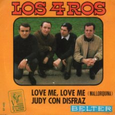 Disques de vinyle: 4 ROS, LOS, - FESTIVAL DE MALLORCA, SG, LOVE ME, LOVE ME + 1, AÑO 1968 PROMO. Lote 43205081