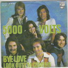 Discos de vinil: 5000 VOLTS: BYE BYE LOVE / LOOK OUT I'M COMING. PHILLIPS 1976. Lote 43205979