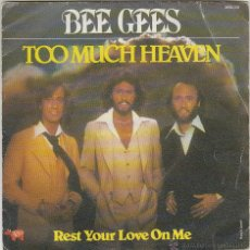 Discos de vinilo: BEE GEES - TOO MUCH HEAVEN - REST YOUR LOVE ON ME, EDITADO POR RSO EN 1978. Lote 43206138