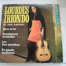 Discos de vinil: LOURDES IRIONDO - EZ DOK AMAIRU - LIN - PAN MENDIAN + 3 EP 1968. Lote 43207960
