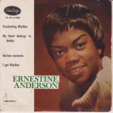 Dischi in vinile: ERNESTINE ANDERSON - MY HEART BELONGS TO DADDY - FASCINATING RHYTHM + 2 EP SPAIN 1960 VG++ / VG++ . Lote 43223172