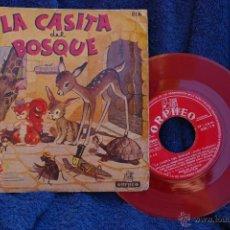 Discos de vinilo: LA CASITA DEL BOSQUE-CUENTO ORIGINAL DE EMILIO VERDIGUIER . Lote 43247237