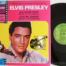 Discos de vinilo: ELVIS PRESLEY - JAILHOUSE ROCK / LOVE ME TENDER - RCA NL-42819 SPAIN / 1981 LP - COMO NUEVO. Lote 43252005