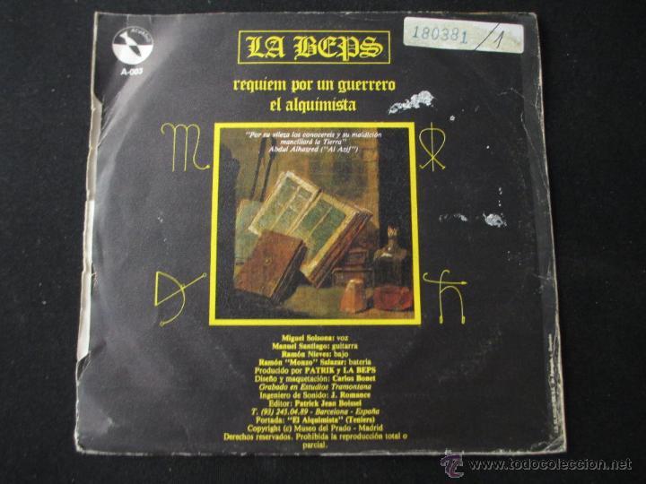 Discos de vinilo: LA BEPS - REQUIEM POR UN GUERRERO 1983 SPANISH HEAVY - Foto 2 - 43254746