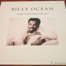 Discos de vinilo: BILLY OCEAN - TEAR DOWN THESE WALLS - LP - JIVE 1988 SPAIN - CON LETRAS. Lote 43256229