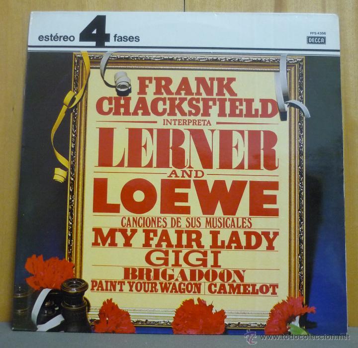 FRANK CHACKSFIELD AND HIS ORCHESTRA - FRANK CHACKSFIELD PLAYS LERNER AND LOEWE - LP DECCA - 1976 (Música - Discos - LP Vinilo - Orquestas)
