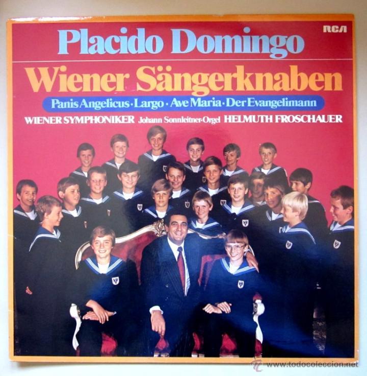 PLÁCIDO DOMINGO - WIENER SÄNGERKNABEN - 1979 - (COMO NUEVO) (Música - Discos - LP Vinilo - Clásica, Ópera, Zarzuela y Marchas)