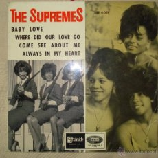 Discos de vinilo: THE SUPREMES , BABY LOVE + 3 ( SOLO FUNDA). Lote 43264482