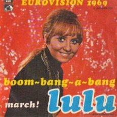 Discos de vinilo: LULU - BOOM BANG A BANG - EUROVISIÓN 1969. Lote 43271960