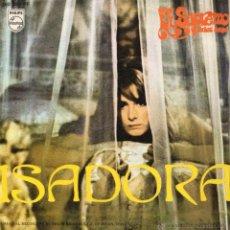 Discos de vinilo: GUIDO PISTOCCHI - FILM ISADORA, SG, ISADORA + 1, AÑO 1969. Lote 43273196