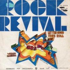 Discos de vinilo: MERRILL MOORE, SG, LET THE GOOD TIMES ROLL + 1, AÑO 1970. Lote 43273428