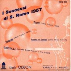Discos de vinilo: I SUCCESSI DI SAN REMO 1957, EP, LUCIANO TAJOLI - SCUSAMI + 3, AÑO 1957 MADE IN ITALY. Lote 43273650