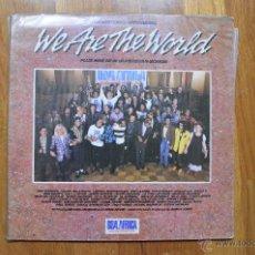 Discos de vinilo: WE ARE THE WORLD- THE HISTORIC RECORDING- USA AFRICA. Lote 43278607