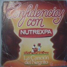Discos de vinilo: MAGNIFICO Y UNICO SINGLE DE LA CANCION DEL NEGRITO - COLACAO-. Lote 43279199