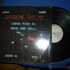 Discos de vinilo: BARON ROJO LARGA VIDA AL ROCK AND ROLL LP. Lote 43279843