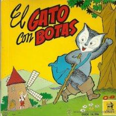 Discos de vinilo: EL GATO CON BOTAS (CUENTO) EP SELLO ODEON AÑO 1960 CON 3 HOJAS DE COMIC. Lote 43300663
